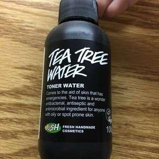 🚚 降價賣咯~買一送一!Lush 茶樹化妝水(9成新)送廣良緣菜瓜水(8成新)