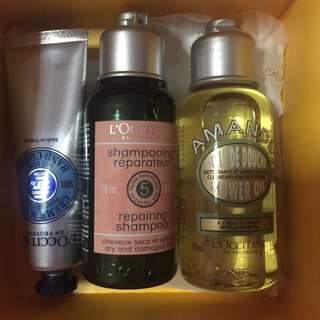 Brand new in package L'occitane Travel Set
