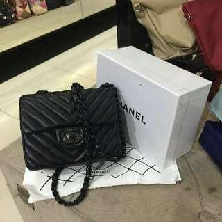 Chevron Mini Flap Bag