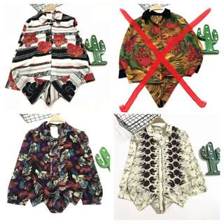 三件古著vintage復古雪紡襯衫1