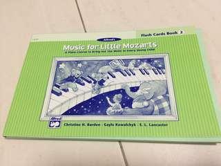Cristofori Music for Little Mozarts Flash card book 2 piano