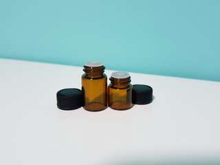 1ml 2ml Glass bottles with reducer