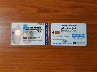 Vintage 1993 & 1994 Singapore Smartcards