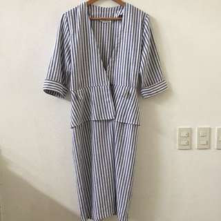 Vintage David Benjamin Stripe Dress