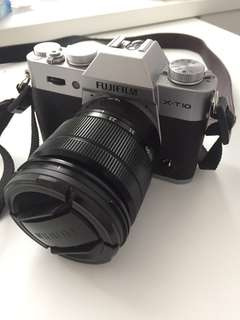 Fujifilm X-t10 silver kit set with 16-50mm 銀色 xt10
