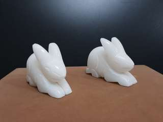 Marble cute rabbit pair
