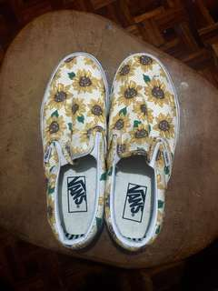 Vans sunflower slip-on