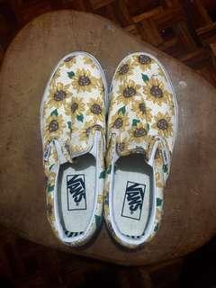 Vans sunflower slip-on