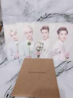 🈹 nature republic 韓國 EXO-k燦烈 post card 限量版