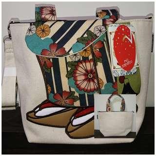 🚚 造型帆布手提包