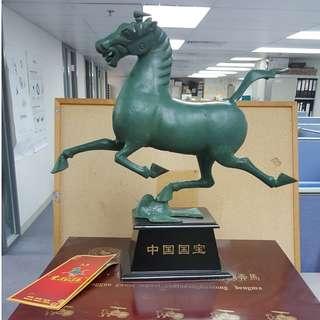 甘肅青銅馬擺設