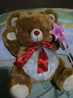 REPRICED! GIFT FOR GIRLFRIEND/ VALENTINES DAY Danielle Bear with happy birthday star & flower