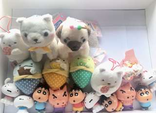 柴犬三兄弟 角落生物 白熊 企鵝 貓 恐龍 小白 蠟筆小新 不理不理左衛門掛飾