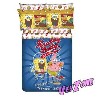 Yes Zone 卡通精品 海綿寶寶 小蝸 正版 單人/雙人 三件套床笠純棉被套四件套床單
