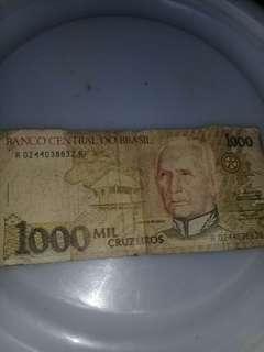 Uang asing brasil ada 3 lembar