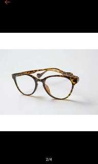 🚚 bowwow korea 琥珀貓眼造型眼鏡