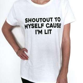 Shoutout To Myself Unisex Design Tshirt Tee