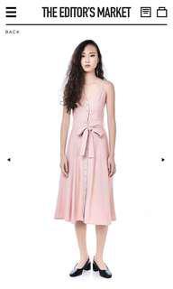 The Editor's Market Delfino Midi Dress - Dust Pink