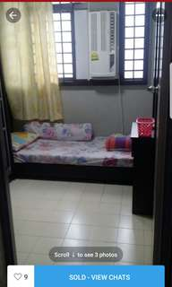 Utility room for rental.Indian hse with a pet dog n 2 kids.No cooking of pork n beef.No visitors allowed.Nid to take a feeder fare to mrt s it is 3 bus stops away.Light cooking onli.Pls pm mi for more enquiries