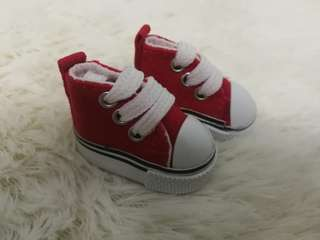 20cm doll shoes (red)
