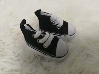 20cm doll shoes (black)