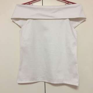 Fold Over Off Shoulder Top