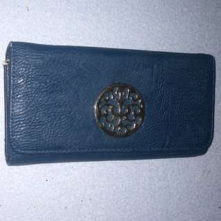 Trifold Dark Blue Wallet