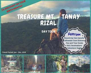 Treasure Mt. with Tanay Day Tour