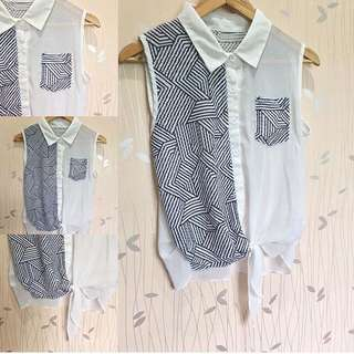 Tie Knot White Top ❤️