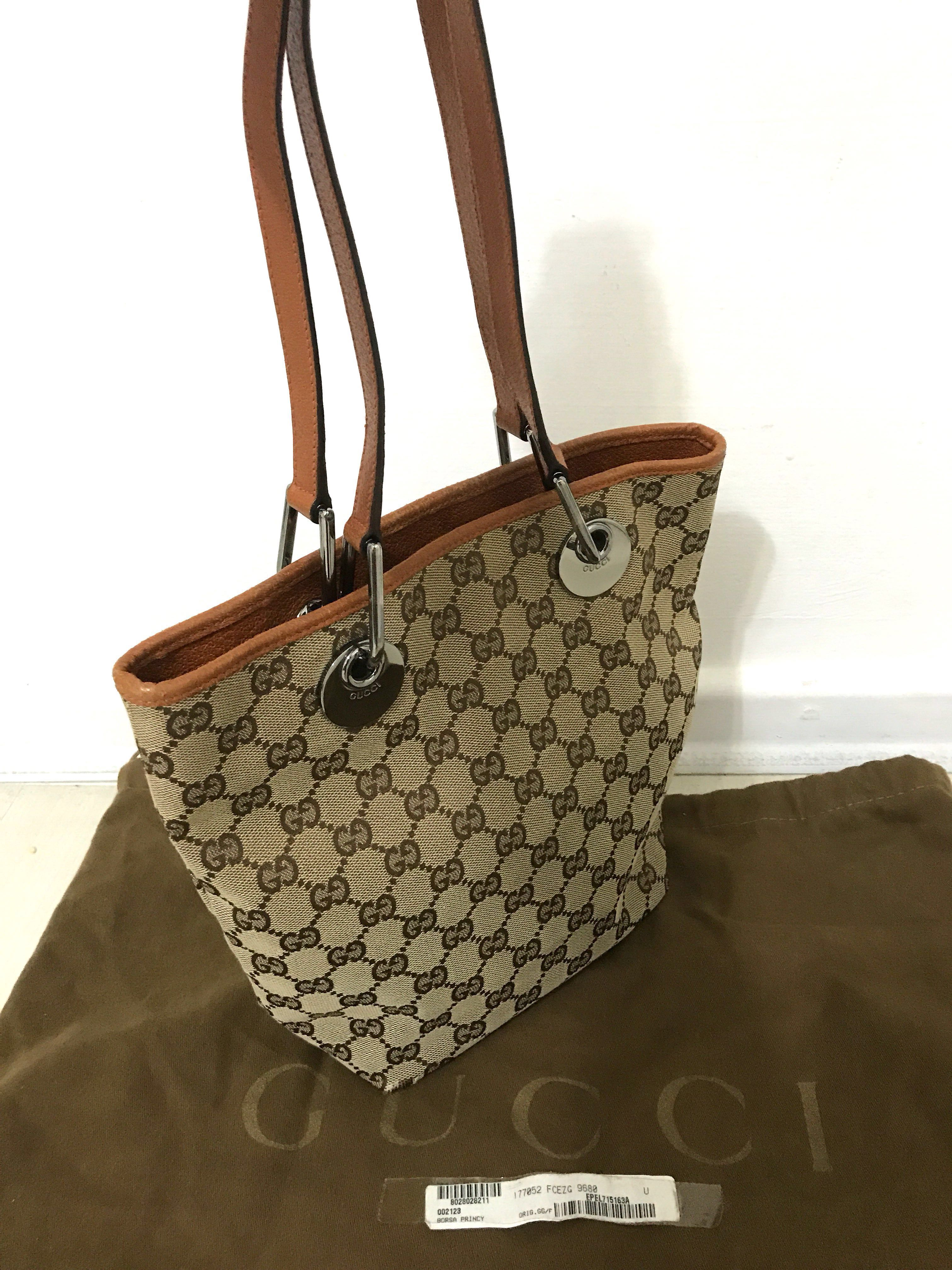 213bf76a80 Authentic GUCCI Tote Shoulder Bag, Luxury, Bags & Wallets, Handbags ...