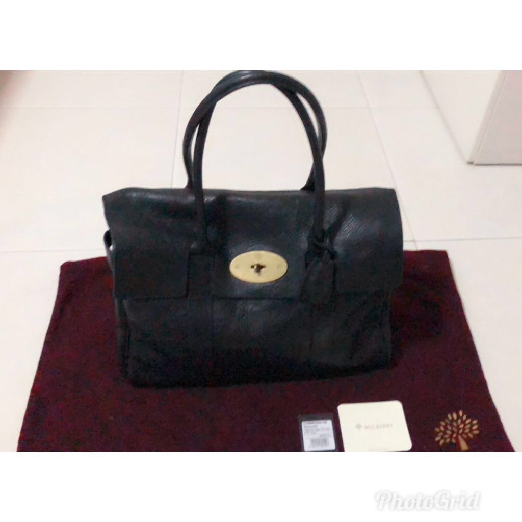 bf47b13ad5 Authentic Mulberry Bayswater Black