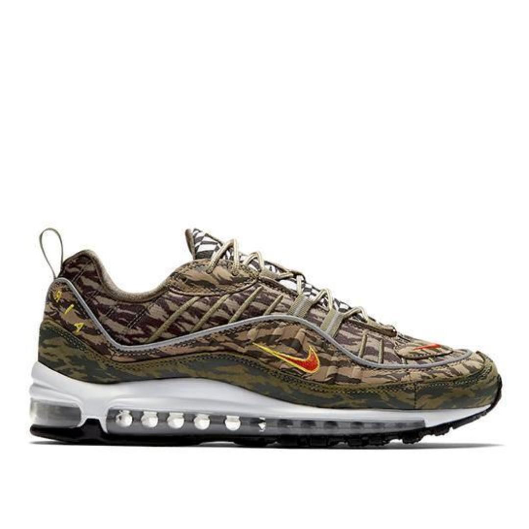 d41c4d1548 Authentic Nike Air Max 98 Camo Khaki Olive, Men's Fashion, Footwear ...