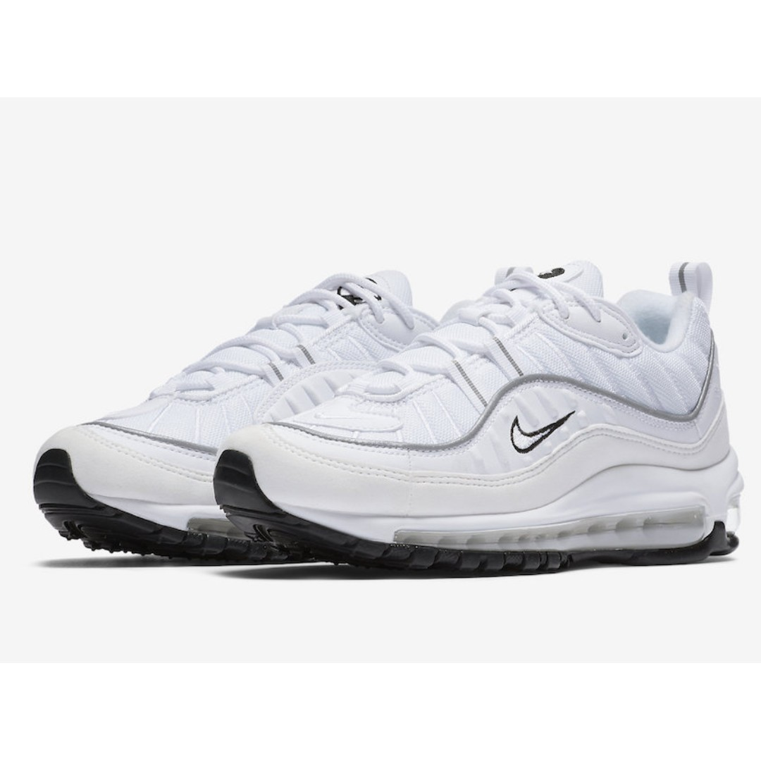 7d666b6f1c Authentic Nike Air Max 98 White / Black, Women's Fashion, Shoes, Sneakers  on Carousell