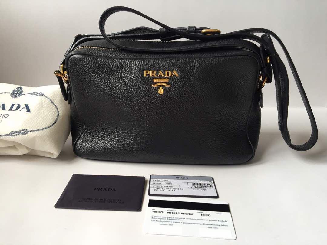 13d50d7b0 Authentic Prada VITELLO PHENIX Crossbody Camera Bag. Art 1BH079., Luxury,  Bags & Wallets on Carousell