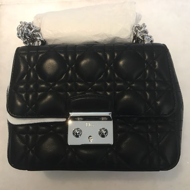 2bb5771c2fb BABY DIOR  Black Sling Bag, Luxury, Bags   Wallets on Carousell