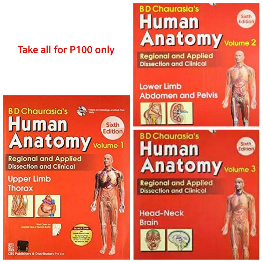 Bd Chaurasias Human Anatomy Volume 1 2 And 3 6th Ed Pdf
