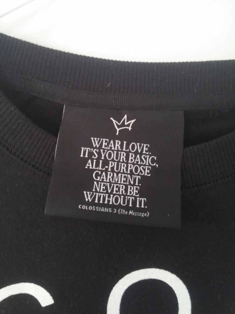 Black pullover jumper