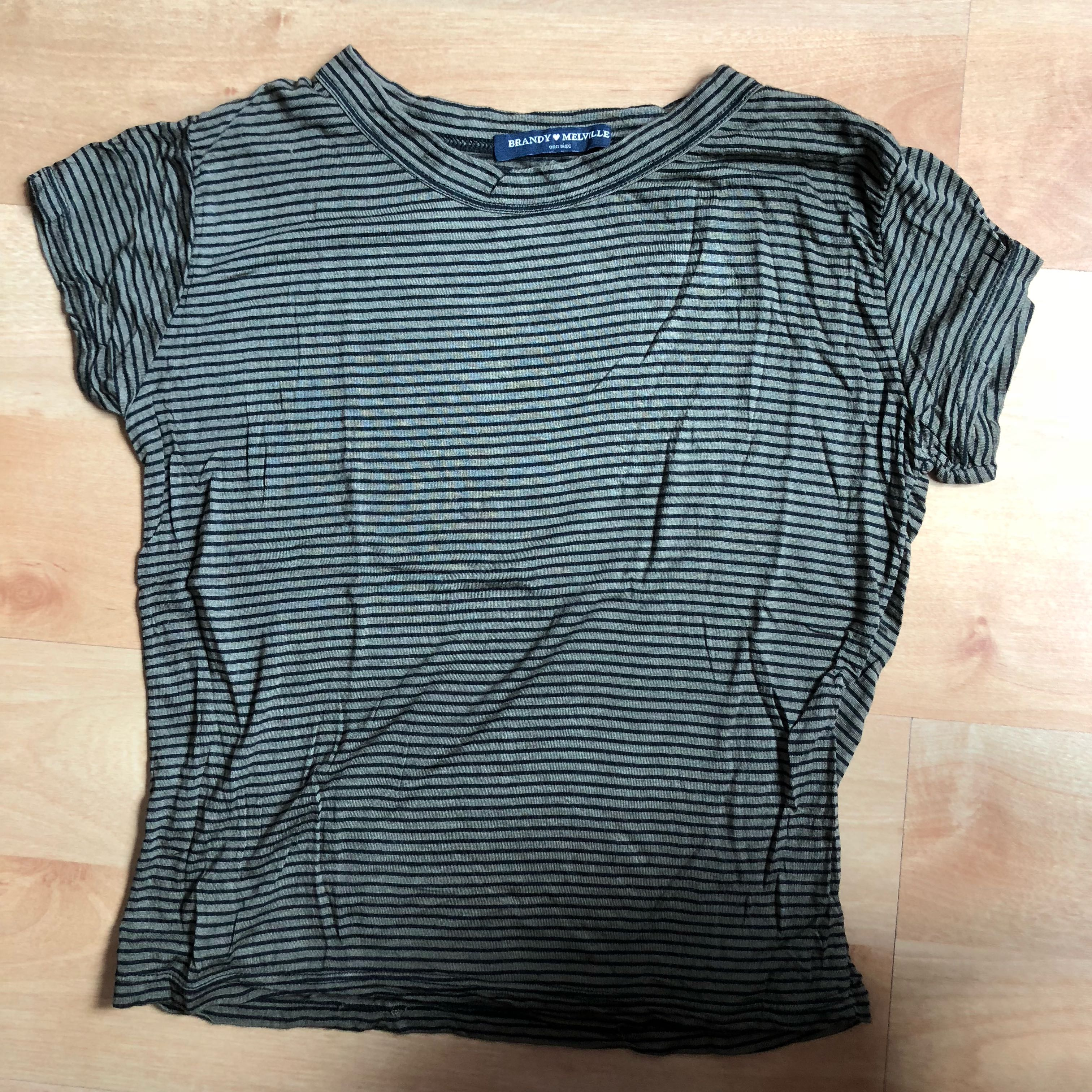 0cb4aaf76e brandy melville bryn top in navy and black stripes, Women's Fashion ...