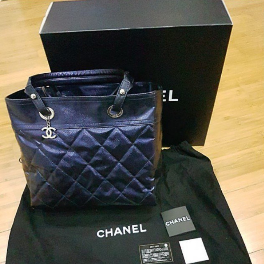 87288c4a41b289 Chanel Royal Blue Canvas Tote Bag, Women's Fashion, Bags & Wallets, Handbags  on Carousell