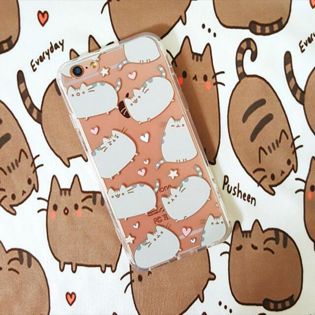 classic fit b6bb7 6b7fe [Clearance] Pusheen iPhone 6 6S 7 8 Samsung Note 8 TPU PC Case Cover