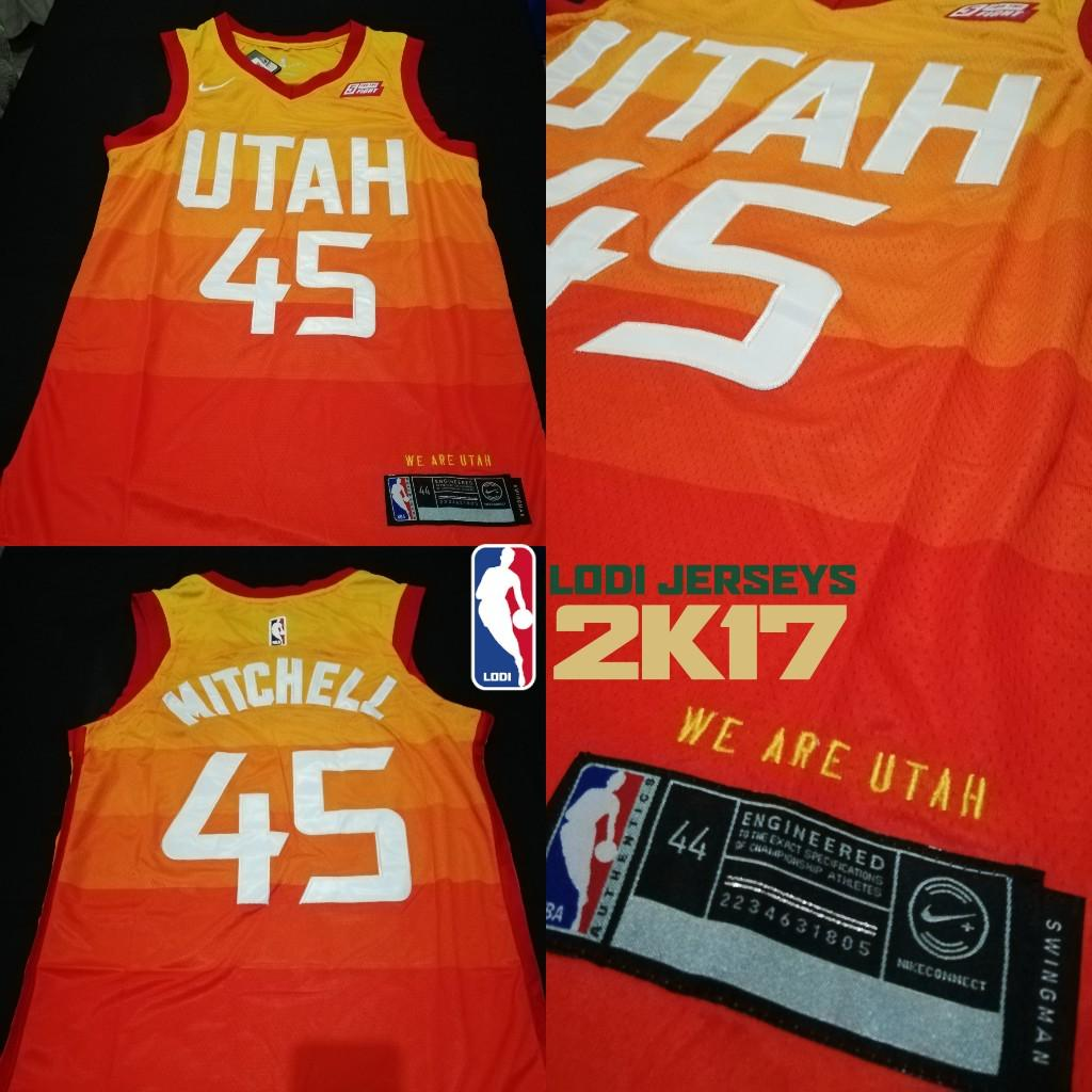 best authentic 97b45 a0902 Donovan Mitchell Utah Jazz Jersey on Carousell