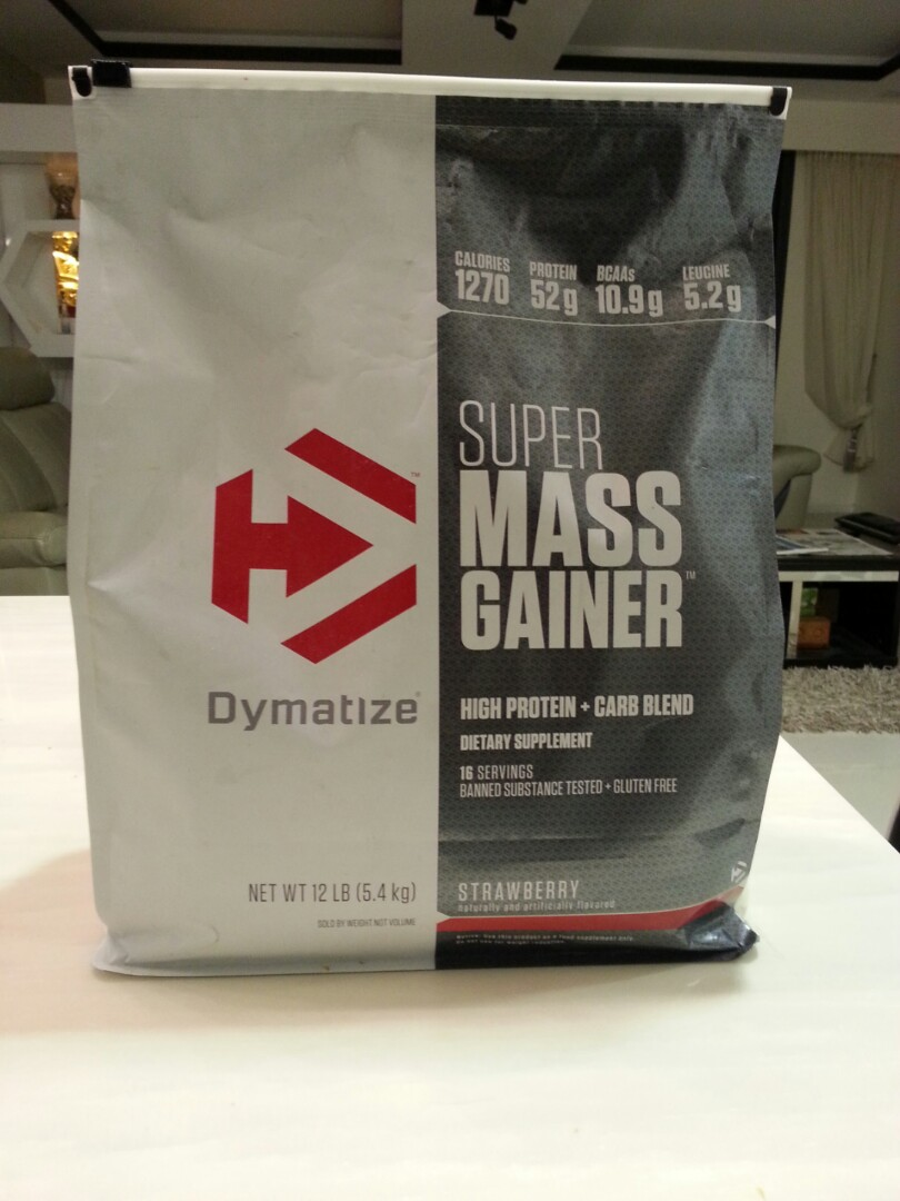 Dymatizes Super Mass Gainer Strawberry Flavored Sports Weights Dymatize 2 Lbs Gym Equipment On Carousell
