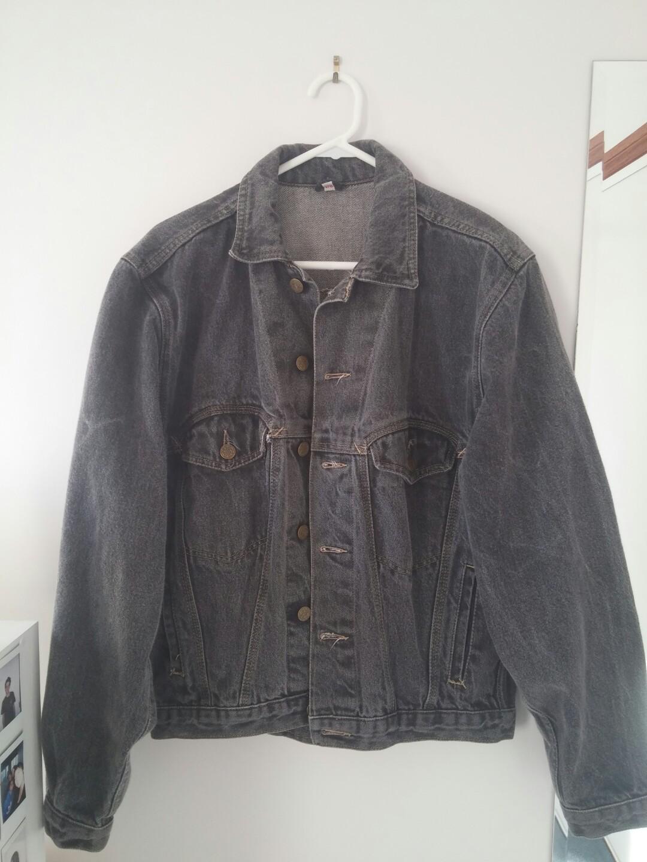 Faded black denim jacket