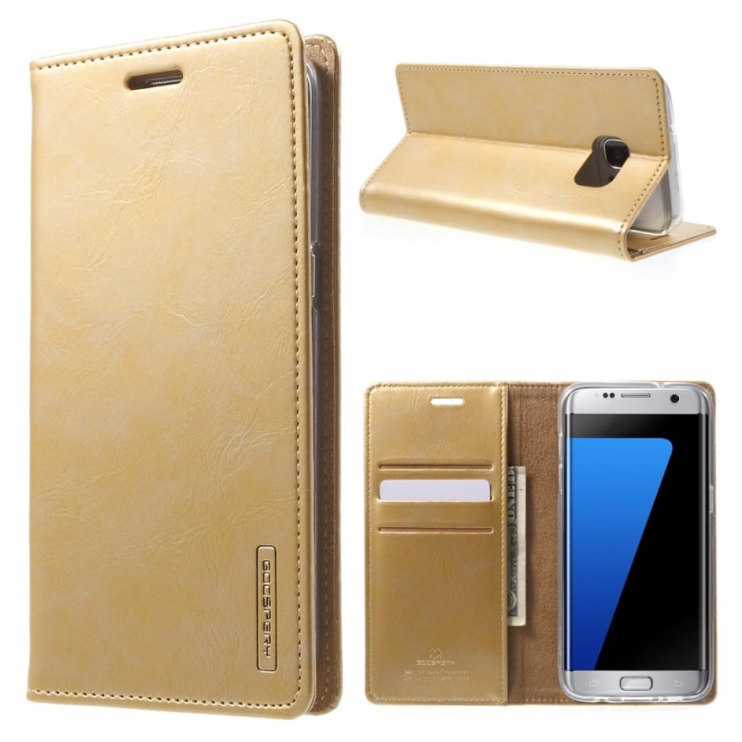Goospery Samsung S7 Edge Blue Moon Flip Case (Authentic), Mobile Phones & Tablets