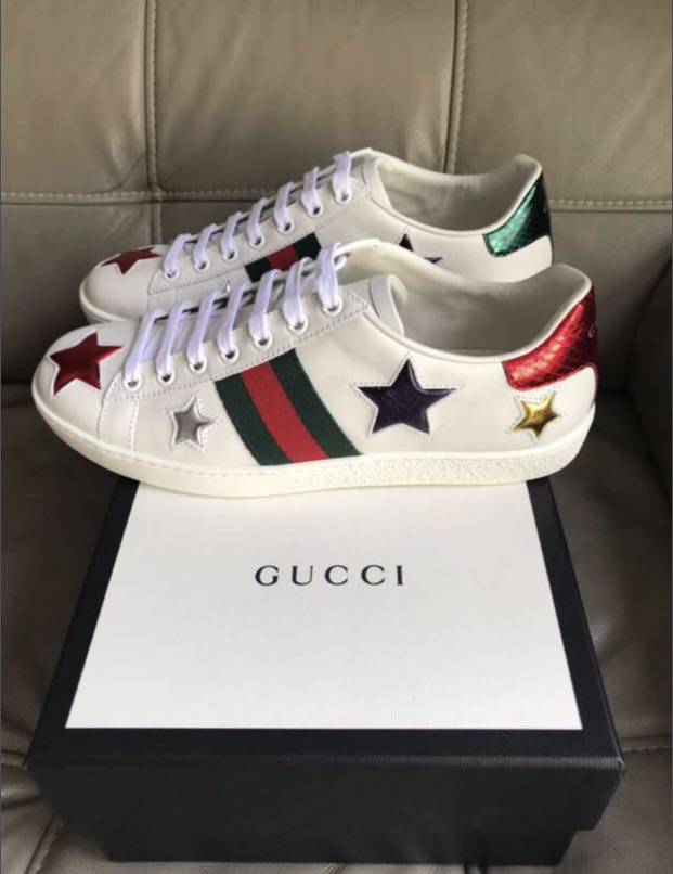 Gucci Ace STAR Sneaker, Luxury, Shoes