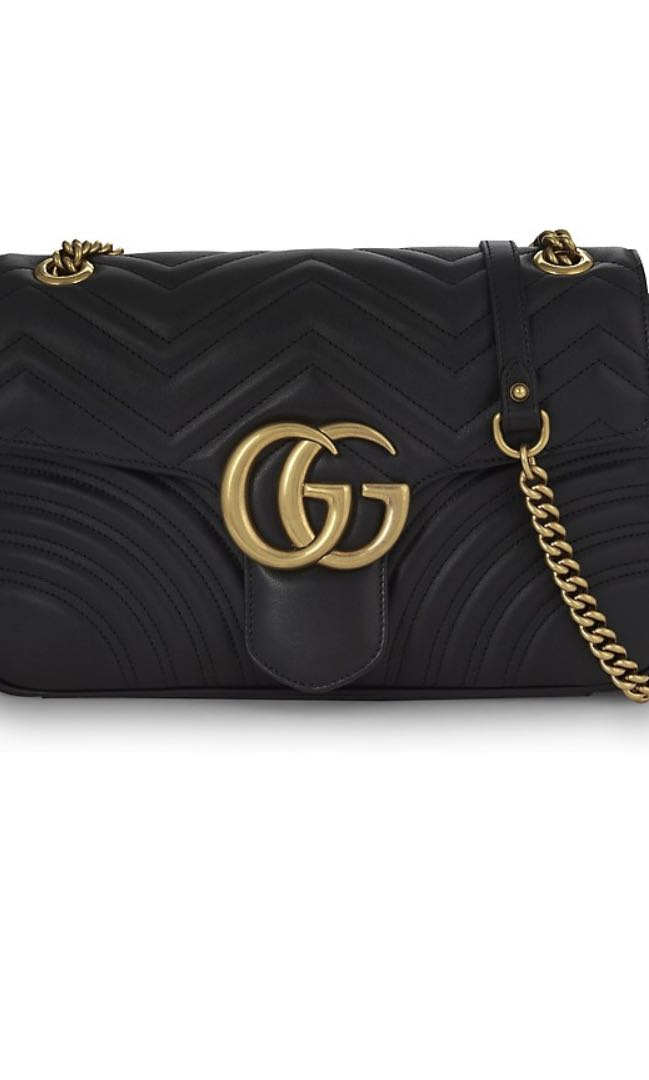 f69b37ad9fd0 GUCCI GG Marmont Medium Leather Shoulder Bag, Luxury, Bags & Wallets,  Handbags on Carousell