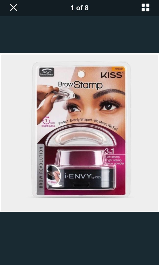 Ienvy Eyebrow Stamp With Powder Black Health Beauty Makeup On Carousell