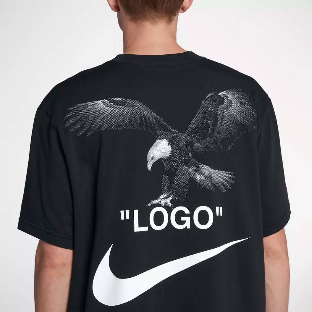 a3550c2f9c3b LARGE BLACK NIKE x OFF WHITE Football Capsule Tee