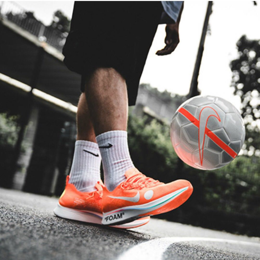 c057ae968037 LOCAL PAIR US 9 Nike x Off-White Zoom Fly Mercurial Fly Knit Orange ...