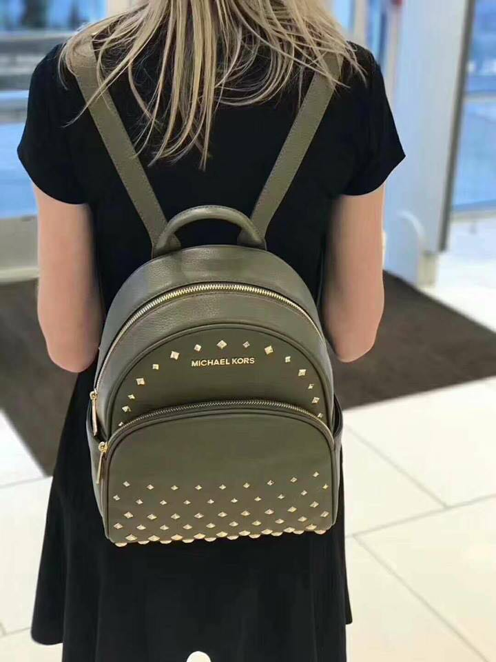 d82990eb52c3 Michael Kors Abbey medium studded backpack, Women's Fashion, Bags & Wallets  on Carousell